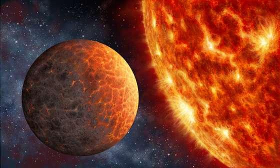 畫家筆下類似金星的系外行星和它的母星