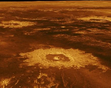 高溫的金星表面