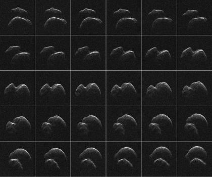 小行星2014 JO25的雷達影像