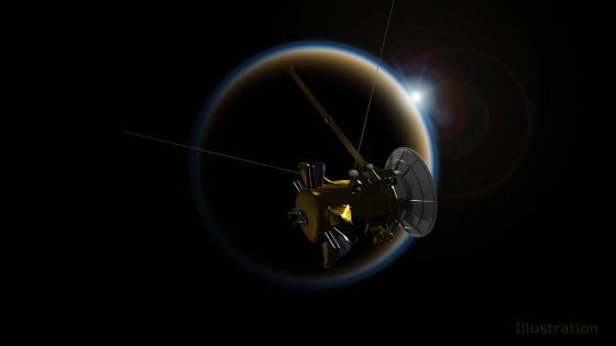 畫家筆下的卡西尼號最後飛掠土衛六任務示