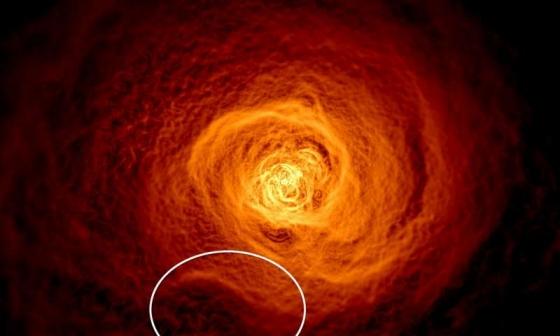 熱氣流的X射線圖