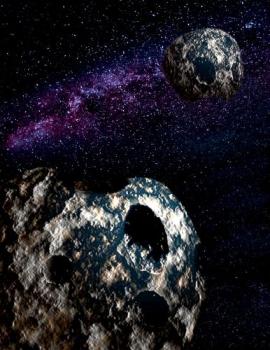 畫家構思的藍色雙微行星