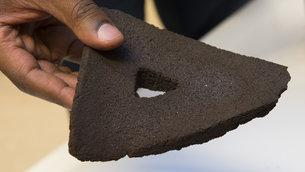 模擬月球土壤利用立體打印成磚塊