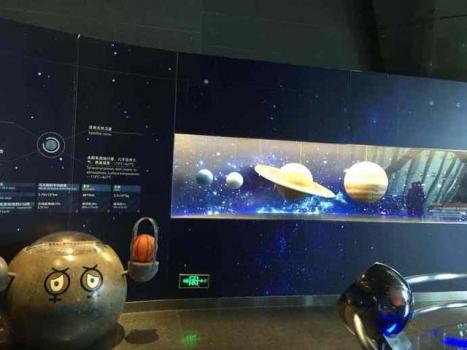 典型天文館中的天文展覽品