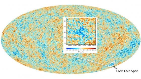 宇宙中的冷斑點位置