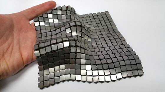 利用立體打印技術製造的太空船保護盔甲