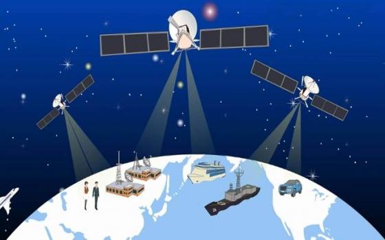 中國北斗導航衛星工作示意圖