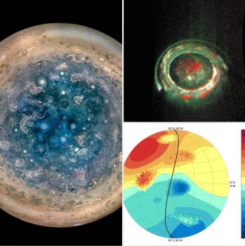木星兩極龐大暴風雨系統和磁場