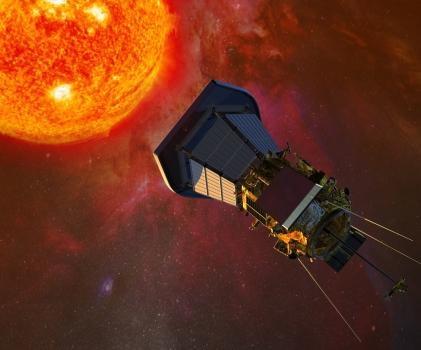 畫家筆下的帕克太陽探測器