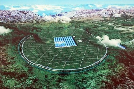 畫家筆下的高海拔宇宙線觀測站