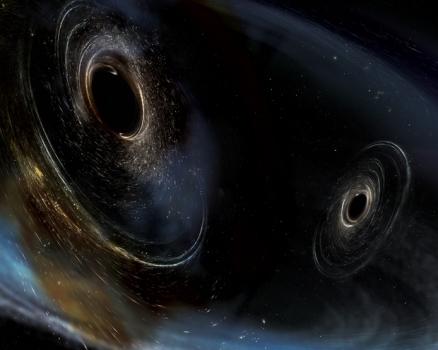 畫家筆下的雙黑洞