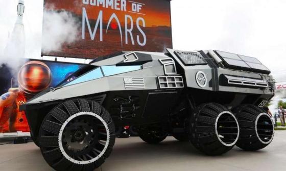 畫家筆下的新款火星探測概念車