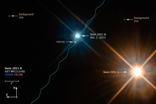 2013年哈勃太空望遠鏡拍攝的STEIN 2051 B