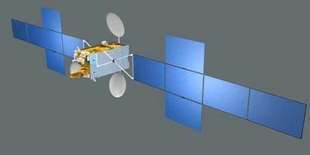 畫家筆下的中星9A通訊衛星
