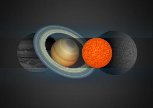 星、土星、EBLM J0555-57Ab和TRAPPIST-1