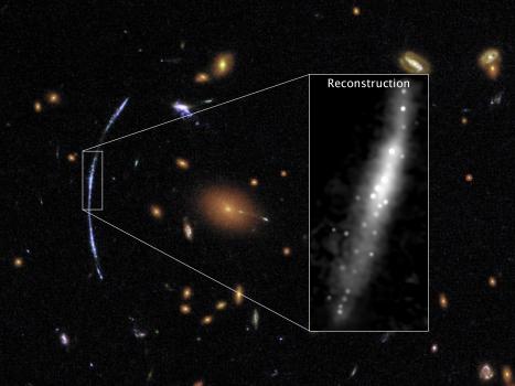 重力透鏡有助於顯示早期宇宙中的恆星形成區