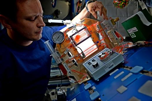 美國太空人操作毛細管吸附劑設施