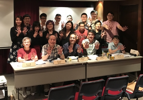 香港天文學會新一屆選出的委員合照