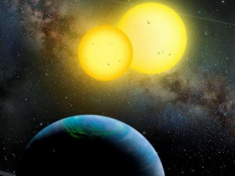 畫家構思的環雙星行星