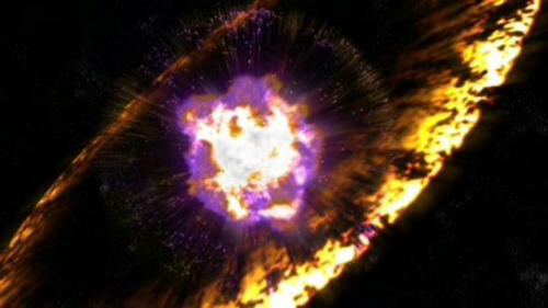 畫家構思的超新星爆發想像圖