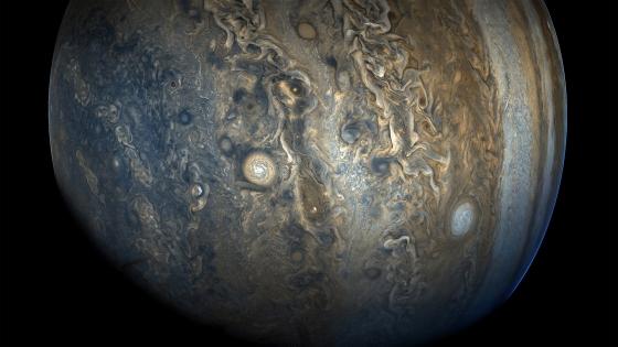 朱諾號2017年10月24日拍攝的木星南半球影像