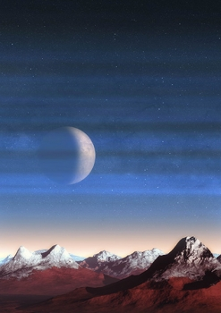 畫家筆下的冥王星的天空
