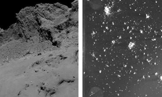 羅塞塔號質譜儀捕捉67P彗星的塵埃粒