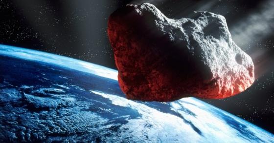 畫家筆下小行星近距離掠過地球