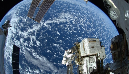 國際太空站外望地球