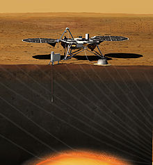 畫家筆下的洞察號火星探測器