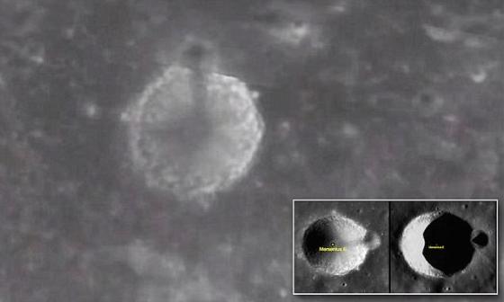 谷歌月球上出現擬似外星人尖塔的影像