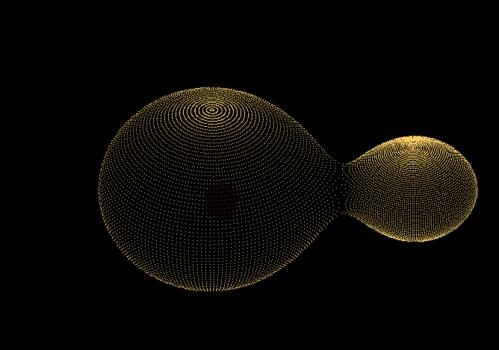 電腦模擬兩星合併情況