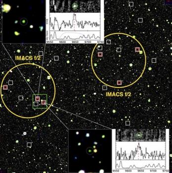 六個星系的光譜證認